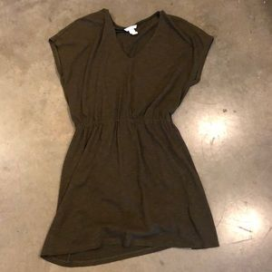 Dark Olive H&M Dress - Short Sleeve - Size M